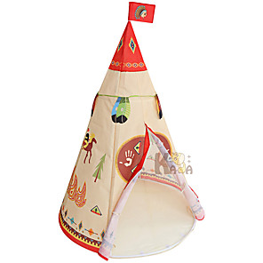 cheap Reborn Doll-Play Tent & Tunnel Playhouse Tent Kids Play Tent Teepee Beach Theme Castle Foldable Convenient Polyester Polyester Microfiber Indoor Outdoor Spring Summer Fall 3 years+ All Pop Up Indoor/Outdoor