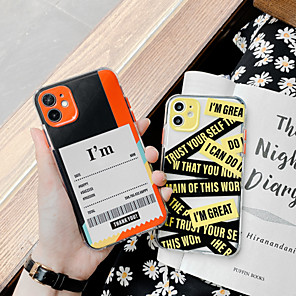 cheap iPhone Cases-Case For Apple iPhone 11 / iPhone 11 Pro / iPhone 11 Pro Max Shockproof Back Cover Word / Phrase TPU