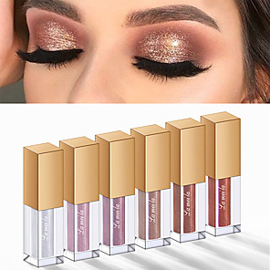 cheap Eyeshadows-5 Colors Eyeshadow Cosmetic EyeShadow Liquid Waterproof Glow Professional Easy to Carry Glitter Shine Waterproof Shimmer glitter gloss Daily Makeup Halloween Makeup Party Makeup Cosmetic Gift