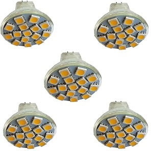 cheap LED Spot Lights-5pcs 3 W LED Spotlight 300 lm MR11 15 LED Beads SMD 5050 Warm White Cold White Natural White 9-30 V