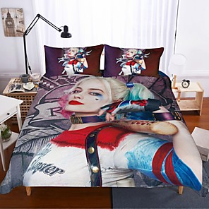 cheap Contemporary Duvet Covers-Home Textiles 3D Bedding Set  Duvet Cover with Pillowcase 2/3pcs Bedroom Duvet Cover Sets  Bedding suicide squad