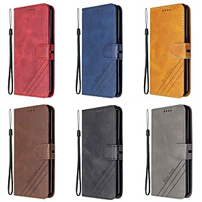 cheap Other Phone Case-Case For Motorola MOTO E6 MOTO E6 plus MOTO E6 Play Wallet Card Holder with Stand Full Body Cases Solid Colored PU Leather TPU for MOTO G8 G8 Plus G8 Play G8 Power