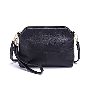 cheap Handbag & Totes-Women's Bags PU Leather / Cowhide Clutch / Crossbody Bag Zipper for Daily Wine / Black / Light Purple / Fall & Winter