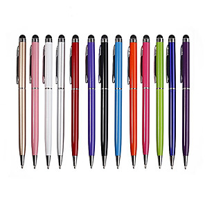 cheap Cell Phone Charms-10pcs 2 in 1 Touch Screen Stylus Pen Ballpoint Pen Tablet Smartphone Useful Design Tablet P For Pad Smart Phone