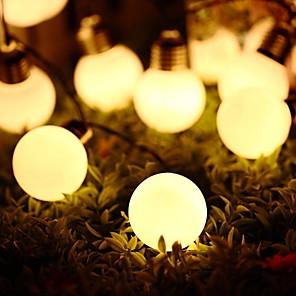 cheap LED String Lights-5m String Lights 20 LEDs Solar Retro G50 Bulb Bulb LED String Lights Outdoor Waterproof Garden Courtyard Christmas Day Decoration Lantern