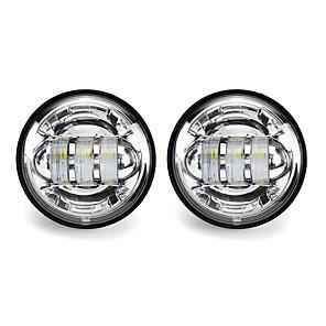 cheap Motorcycle Lighting-2Pcs 4 30W 1500LM 6000K 10-32V IP67 Motorcycle LED Headlights Flood Fog Passing Lights