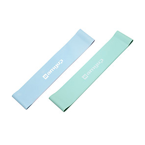 cheap Fitness Gear & Accessories-Resistance Loop Exercise Bands Resistance Bands for Legs and Butt 2 pcs Resistance Bands Sports Latex Home Workout Yoga Pilates Portable Durable Lift, Tighten And Reshape The Plump Buttock Shaper
