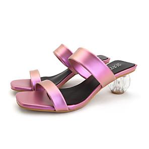 cheap Women's Sandals-Women's Sandals Summer Fantasy Heel Open Toe Daily PU White / Pink / Blue