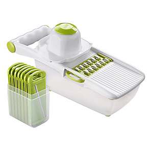 cheap Kitchen Utensils & Gadgets-Mandoline Slicer Vegetable Cutter With 8 Pieces Stainless Steel Blade Potato Peeler Carrot Grater Multifunctional Kitchen Tool