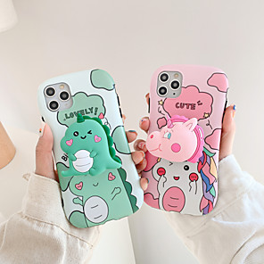 cheap iPhone Cases-Case For Apple iPhone 11 / iPhone 11 Pro / iPhone 11 Pro Max Shockproof / with Stand Back Cover Cartoon TPU