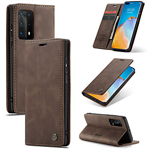 cheap Huawei Case-CaseMe Retro Leather Magnetic Flip Case For Huawei P40 / P40 Pro / P40 Lite / P30 / P30 Pro / P30 Lite / P20 / P20 Pro / Mate 30 / Mate 30 Pro With Wallet Card Slot Stand Case Cover