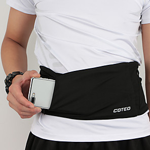 cheap Running Bags-Running Belt Fanny Pack Belt Pouch / Belt Bag for Running Hiking Outdoor Exercise Traveling Sports Bag Reflective Adjustable Waterproof Polyester Men's Women's Running Bag Adults