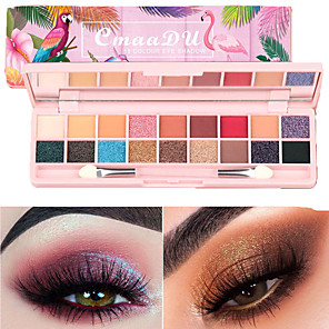 cheap Blush-18 Colors Eyeshadow Eyeshadow Palette Matte Eye Nursing Waterproof Easy to Carry Waterproof Portable Beauty Daily Makeup Party Makeup Fairy Makeup Cosmetic Gift