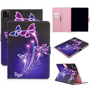 cheap iPad case-Case For Apple iPad Air/iPad 4/3/2/Mini 3/2/1 Wallet / Card Holder / with Stand Full Body Cases Butterfly PU Leather For iPad Pro 9.7/New Air 10.5 2019/Pro 11 2020/Mini 5/2017/2018/ipad 10.2