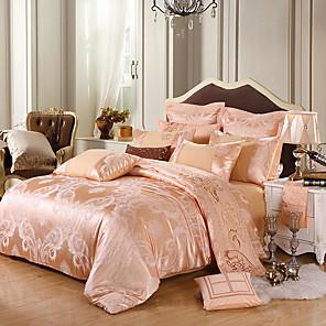 cheap Duvet Cover Sets-Silk Satin Jacquard four-piece Spring and Summer European wedding bedding 1.5 m / 1.8 m / 2 M plus