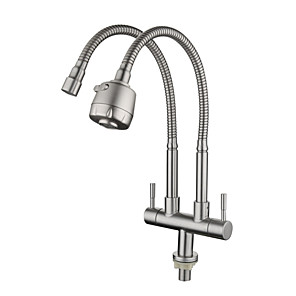 cheap Kitchen Faucets-Kitchen faucet - Single Handle One Hole Electroplated Standard Spout Other Contemporary Kitchen Taps