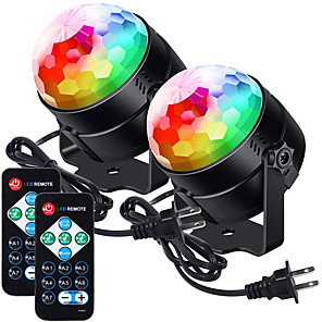 cheap Stage Lights-Partylights Discoball 360 Rotatable Discolights Sound Activated Remote Control Dj Lighting 7 Color Patternes3 Lightning Mode6 Colours for All Parties Wedding