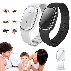 cheap Personal Protection-Ultrasonic Natural Mosquito Repellent Bracelet Waterproof Capsule Pest Insect Bugs Anti Mosquito Insect Bands Outdoor Kids Adult