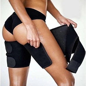 cheap Fitness Gear & Accessories-Protective Gear Thigh Brace / Leg Brace 2 pcs Sports Neoprene Home Workout Yoga Exercise & Fitness Adjustable Strength Training Weight Loss Leg Shaping Hot Sweat For Men Women
