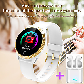 cheap Smartwatches-JSBP C19  Women Smart Bracelet Smartwatch BT Fitness Equipment Monitor Waterproof with TWS Bluetooth Wireless Headphones Music Headphones for Android Samsung/Huawei/Xiaomi iOS Mobile Phone