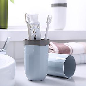 cheap Bathroom Gadgets-1Pcs Travel toothbrush Holder Mug Bathroom Accessories Comb Storage Bamboo Fiber Tooth Brush Case Toothpaste Organizer