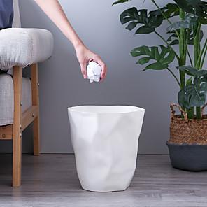 cheap Bathroom Gadgets-Pleated Trash Can Waste Bin Household Office Bathroom Plastic Paper Basket Garbage Can Waste Bin Storage Box Kitchen Accessories