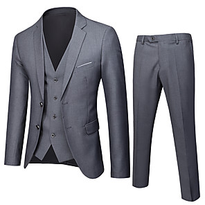 cheap Custom Shirts-Tuxedos Standard Fit Notch Single Breasted Two-buttons Polyester Solid Colored