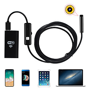 cheap Portable Speakers-8mm Lens WiFi Endoscope Camera Waterproof IP67 Inspection Borescope Soft 3m Length for Android Iphone PC