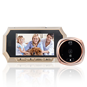 cheap Video Door Phone Systems-Explosion 4.3-inch high-definition intelligent electronic cat-eye doorbell human induction night vision video recording ringtone optional 3 million pixels