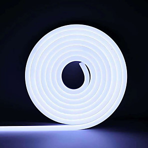 cheap Neon LED Lights-3m Neon Strip Lights 360 LEDs 2835 SMD 6mm 1pc Warm White White Red Halloween Christmas Waterproof Cuttable Decorative 12 V