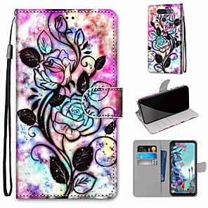 cheap Other Phone Case-Case For LG Q70 / LG K50S / LG K40S Wallet / Card Holder / with Stand Full Body Cases Hollow Flower PU Leather / TPU for LG K30 2019 / LG K20 2019
