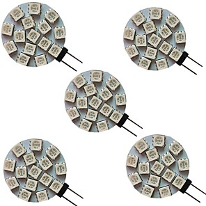 cheap Car Interior Lights-5pcs 3 W LED Bi-pin Lights 300 lm G4 15 LED Beads SMD 5050 Warm White Cold White Natural White 9-30 V