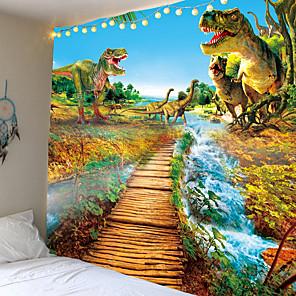 cheap Wall Tapestries-Anime Dinosaur Tapijt Muur Opknoping lichtgewicht Polyester Stof Psychedelische Hippie Wandtapijten Kid Slaapkamer Bed Lakens