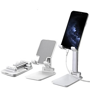 cheap Car Holder-Cell Phone Stand Cafele Desktop Foldable Height Adjustable Phone Holder Tablet Stand For Samsung Galaxy Ipad Mini iPhone X Xr Xs max 11 PRO All Smartphones Kindle Tablet Under 12.9 Inch