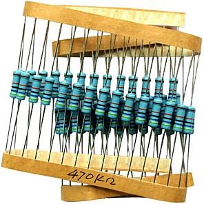 cheap Car Emergency Tools-200pcs 470K ohm Resistor 1/4w (0.25 Watt) 1% Tolerance Metal Film Fixed Resistor