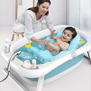 cheap Bathroom Gadgets-Children's Bathtub Lying Care Universal Bath Barrel Oversized Lengthened Baby Newborn Supplies Baby Bath Tub Folding