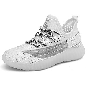 cheap Women's Heels-Boys' Comfort Knit / Elastic Fabric Trainers / Athletic Shoes Big Kids(7years +) Running Shoes White / Black / Brown Spring