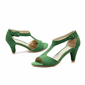 cheap Women's Sandals-Women's Sandals Summer Low Heel Open Toe Daily PU Wine / Black / Red