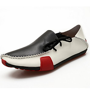cheap Men's Slip-ons & Loafers-Men's Spring / Summer Classic Daily Oxfords Leather / Cowhide Black / Brown / Gray