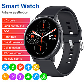 cheap Smartwatches-S20 Smart Watch ECG PPG Heart Rate Monitor Men Women IP68 Waterproof Blood Pressure weather Smartwatch