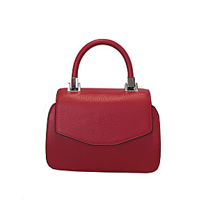 cheap Handbag & Totes-Women's Bags Cowhide Crossbody Bag / Top Handle Bag for Daily / Office & Career Wine / Black / Red / Fall & Winter