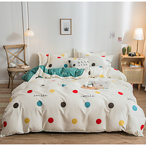 cheap Duvet Cover Sets-4pcs modern bedding set Super king size bed linens reactive printing duvet cover set geometry simple style home bed set flat sheet
