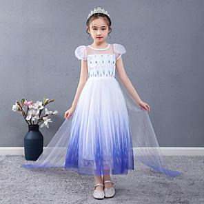 cheap Movie & TV Theme Costumes-Frozen Princess Dress Girls' Movie Cosplay Halloween Christmas White Dress Christmas Halloween