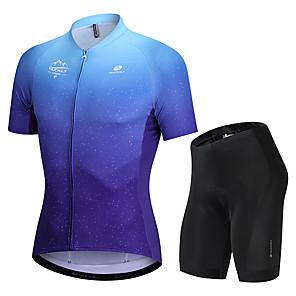 cheap Cycling Jersey & Shorts / Pants Sets-Nuckily Men's Short Sleeve Cycling Jersey with Shorts Blue Gradient Bike Sports Gradient Road Bike Cycling Clothing Apparel