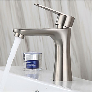 cheap Bathroom Sink Faucets-304 stainless steel single cold basin faucet bathroom brushed washbasin hand basin single cold small waist faucet
