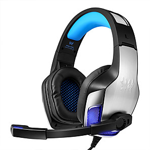 cheap Gaming Headsets-KOTION EACH G5300 Gaming Headset Wired Stereo Dual Drivers with Microphone Volume Control InLine Control for Gaming