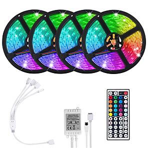 cheap LED Strip Lights-LOENDE 4x5M Flexible LED Light Strips Light Sets RGB Tiktok Lights 1200 LEDs SMD5050 10mm 1 set RGB Tiktok Lights Christmas New Year's Cuttable Party Decorative 12 V