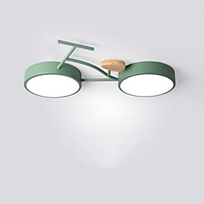 cheap Flush Mounts & Semi Flush Mounts-Simple And Creative Child And Boy Room Ceiling Light Led Bicycle Lighting 24W