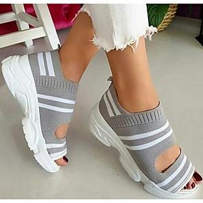 cheap Women's Sandals-Women's Sandals Flat Sandal Summer Flat Heel Round Toe Daily Tissage Volant Black / Yellow / Green