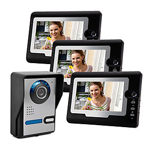 cheap Video Door Phone Systems-Monitor&Sensor Waterproof / Hands-free Calling / Hands-free Messaging LCD / ABS